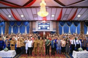 Tatap Muka Wali Kota Manado Bersama Kapolresta Manado, Dandim 1309/Manado, BKSUA, FKUB dan Togam