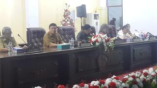 Wakili Bupati VAP, Sekda Kuhu Hadiri Paripurna DPRD Minut.