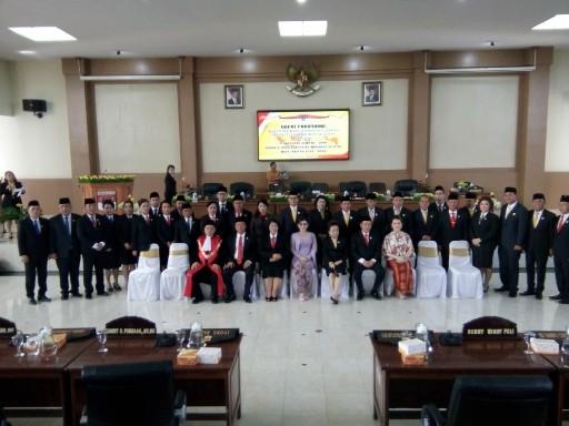 Hadiri Pelantikan Anggota DPRD Minsel Periode 2019-2024, Bupati Tetty Paruntu Sampaikan Hal ini