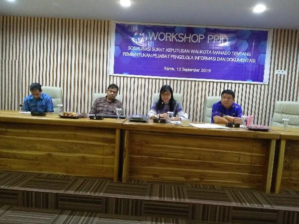 Workshop PPID dan Sosialisasi SK Wali Kota No 180 Tahun 2019 Digelar