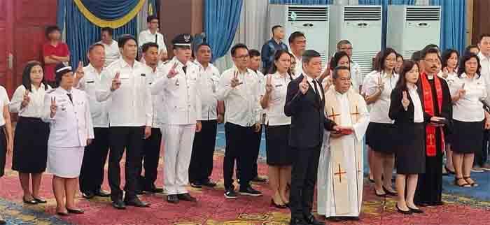 Wali Kota Vicky Lumentut Lantik Pejabat Direktur RSUD Kota Manado, Direktur RS Khusus Gigi dan Mulut, Administrator dan Pengawas