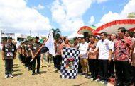 Pantau Kegiatan Lomba HUT PKB ke-57, Ketua PK/B Sinode GMIM Vicky Lumentut Lepas Pawai Panji Yosua