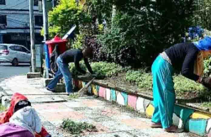 Giat Lakukan Perawatan Taman. DLH Manado Minta Warga Ikut Serta Menjaga Keindahan Taman