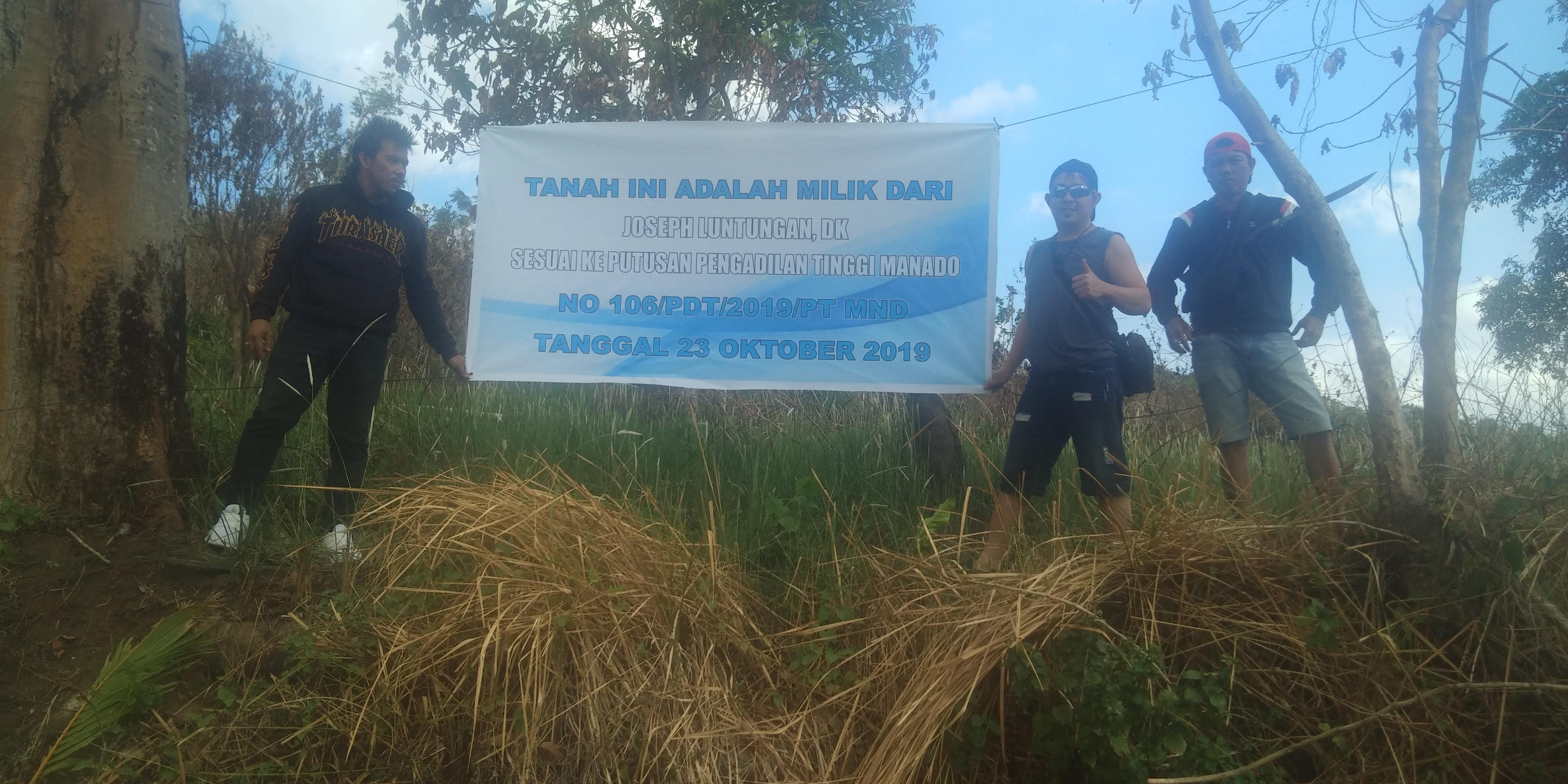Warning PT MSM/TTN Lakukan Aktifitas di Perkebunan Kayuwale, Joseph Luntungan DK Menang di Pengadilan Tinggi Manado