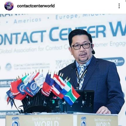 Top Performance Contact Center World, Barcelona. Wawali Mor Bastian Presentasikan Call Center Siaga 112/Pelayanan Publik Terpadu
