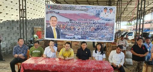 PD Pasar Manado Gelar Sosialisasi dan Pembinaan Pasar Rakyat, Dihadiri Wamendag RI, DR Jerry Sambuaga
