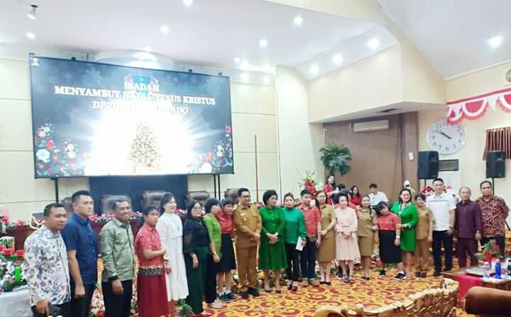 DPRD Manado Gelar Ibadah Pra Natal Bersama Anak-Anak SLB
