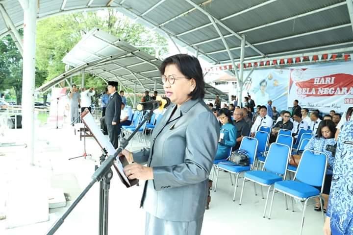 Ketua DPRD Manado Aaltje Dondokambey Hadiri Upacara Hari Bela Negara Ke-71