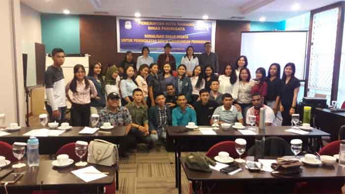 Sosialisasi Sadar Wisata untuk Peningkatan SDM di Lingkungan Pendidikan, Dispar Manado Gandeng Pelajar