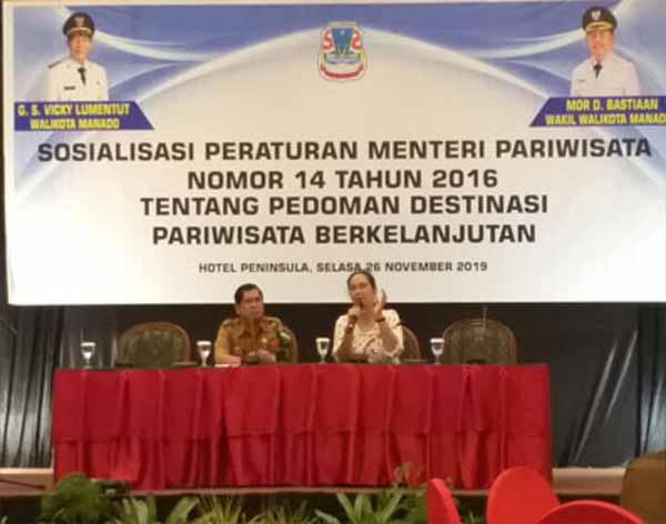 Dispar Manado Sosialisasikan Permen 14/2016 Tentang Pedoman Destinasi Pariwisata Berkelanjutan