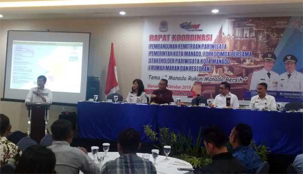Dispar Manado Gelar Rakor Pembangunan Kemitraan Dengan Stakeholder Pariwisata