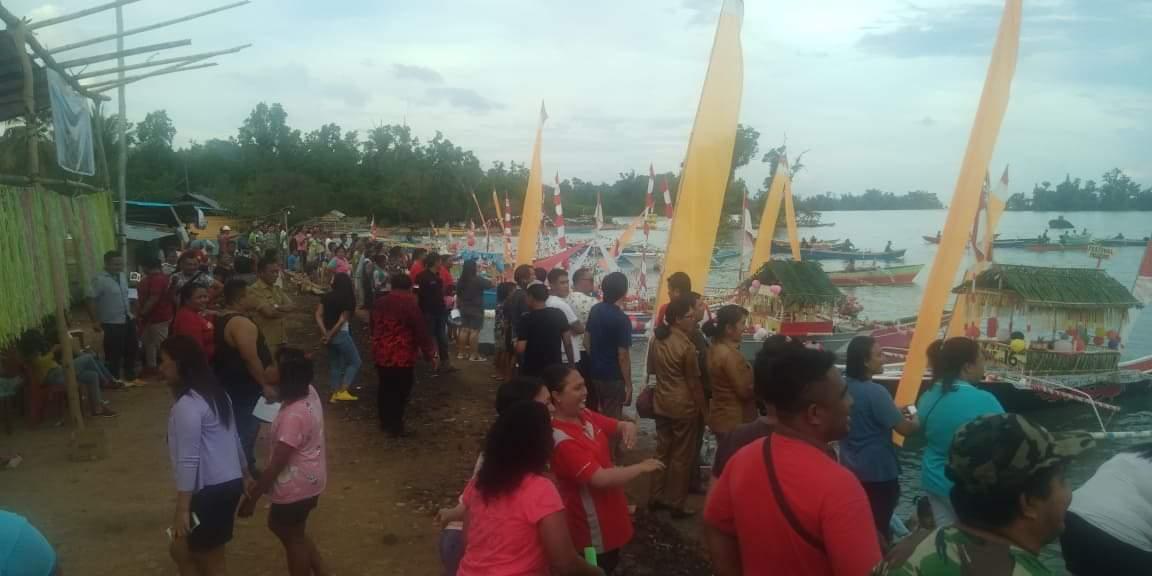 Festival Pulau Komang di Desa Kalinaun Tarik Animo Masyarakat