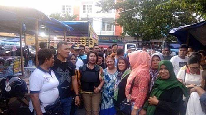 Pol PP Kota Manado Kembali Tertibkan Pasar 45. Tetty Taramen: Tolong Dijaga Kebersihannya
