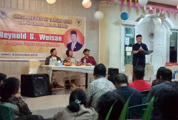 Tetty Taramen Hadiri Reses Anggota DPRD Manado, Reynold Wuisan.