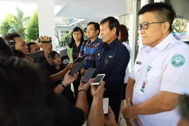 Antisipasi Penyebaran Virus Corona di Kota Manado, Wali Kota Vicky Lumentut Gelar Rapat Internal