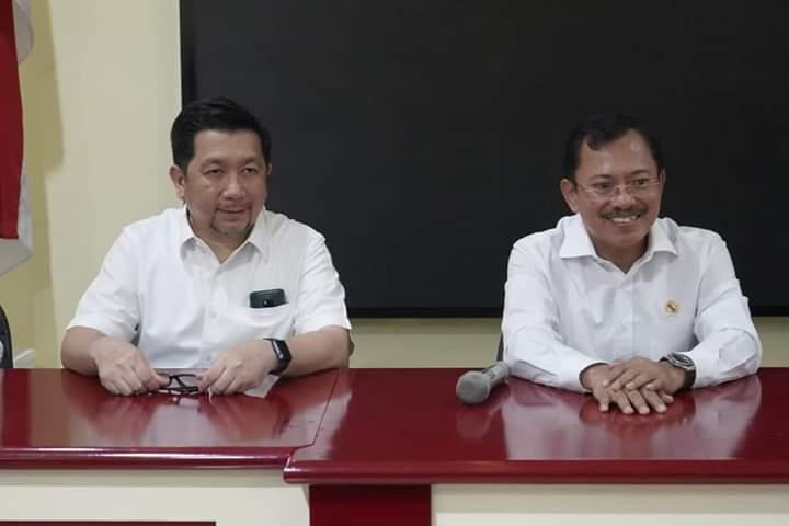 Cek Kesiapan Intansi Kesehatan Cegah Virus Corona, Wawali Mor Bastiaan Dampingi Kunker Menkes RI di Manado