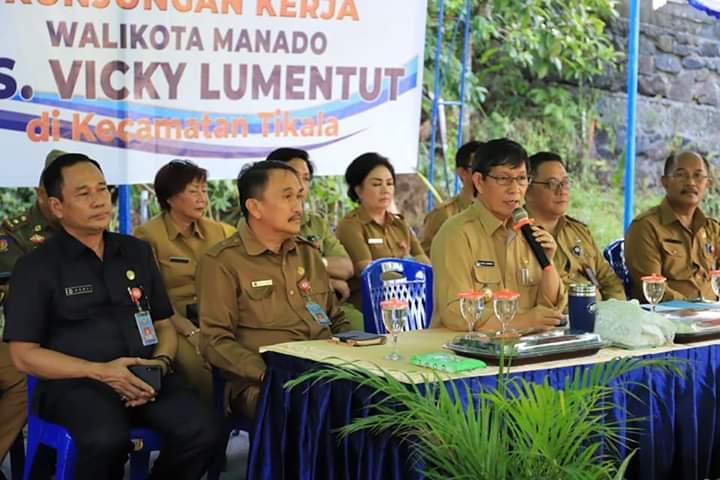 Kunker di Kecamatan Tikala, Wali Kota Vicky Lumentut Minta Camat, Lurah dan Pala Pahami Kondisi Wilayahnya