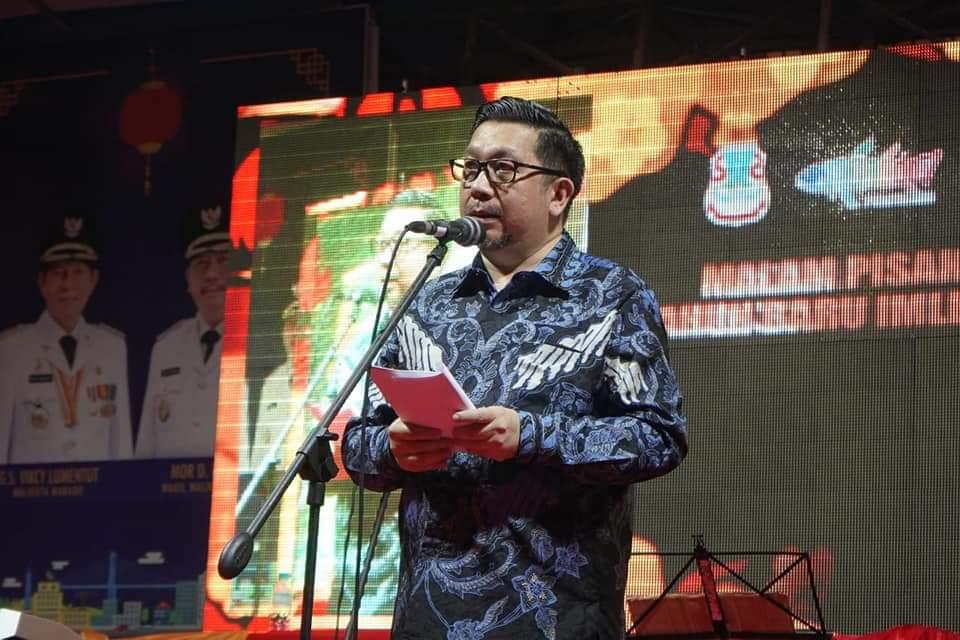 Wawali Mor Bastiaan Hadiri Perayaan Tahun Baru Imlek 2571 di Pecinan Manado