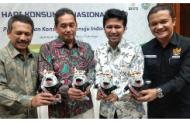 Kunker ke Surabaya, Mendag Agus Suparmanto Luncurkan Harkonas 2020. Perkenalkan Juga Logo dan Maskot Harkonas
