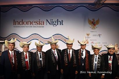 Gelaran Indonesia Night dalam World Economic Forum 2020 di Davos