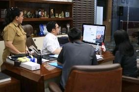 Wawali Mor Bastiaan Lakukan Penginputan Data Sensus Penduduk Online 2020