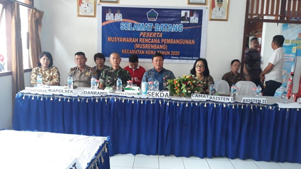 Kecamatan Kema Gelar Musrenbang, Kuhu Tegaskan Usulan Desa Harus Sesuai RPJMD