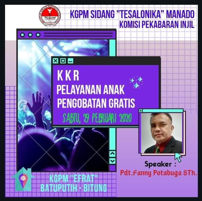 KGPM Sidang Tesalonika Manado Bakal Gelar KKR, Pelayanan Anak serta Pengobatan Gratis di Desa Batu Putih, Bitung