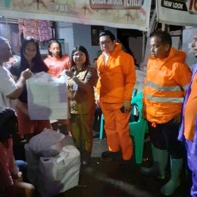 Wawali Mor Bastiaan Tinjau Wilayah Terdampak Banjir di Kota Manado