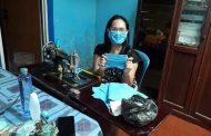 Legislator PD Vanda Pinontoan Jahit Masker Sendiri. Siap Dibagikan ke Masyarakat Manado