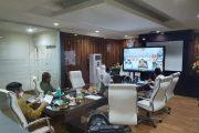 Wali Kota GSVL Laporkan Penanganan Pencegahan Covid-19 di Kota Manado Melalui Rapat Teleconference dengan Gubernur