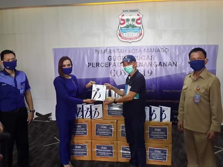 PT. Inez Kosmetikatama Super Indah Peduli Penanggulan Covid-19, Salurkan Bantuan Lewat Pemkot Manado