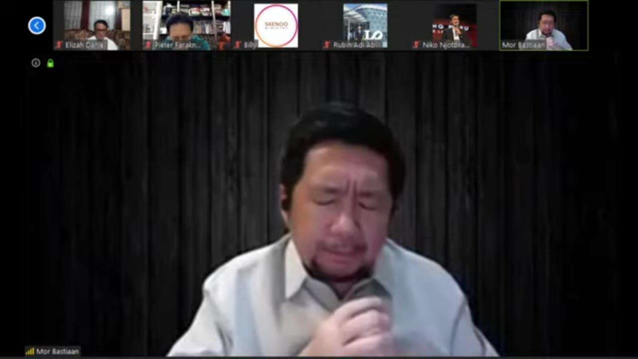 Wawali Manado Mor Bastiaan berdoa dan Beribadah Secara Live Streaming Dengan Beberapa Pendeta