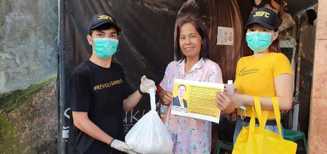 Bantu Warga Sulut, Wamendag Jerry Sambuaga Sisihkan gaji untuk Beli Sembako, Masker dan Hand sanitizer
