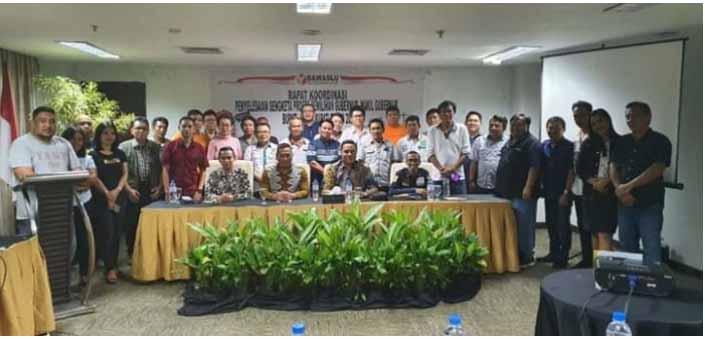 Bawaslu Gelar Rakor Penyelesaian Sengketa Proses Pemilihan Gubernur dan Wakil Gubenur