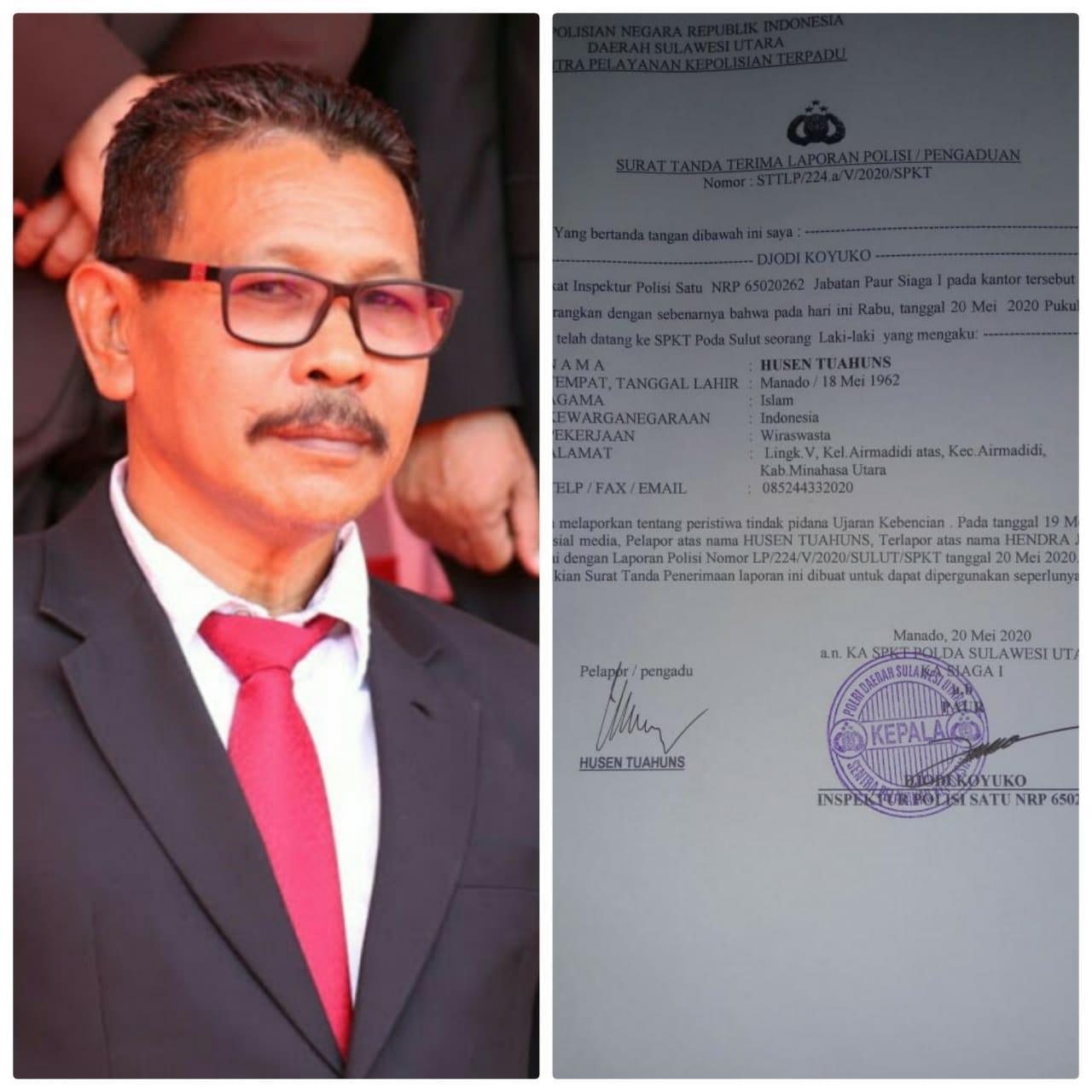 Cuitan Hendra Jacob Dimedsos Berujung di Meja SPKT Polda Sulut