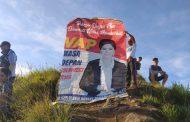 Baliho VAP Terbentang di Puncak Gunung Klabat