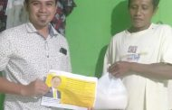 Wamendag Jerry Sambuaga Beri Bantuan Kepada Warga Bolsel.