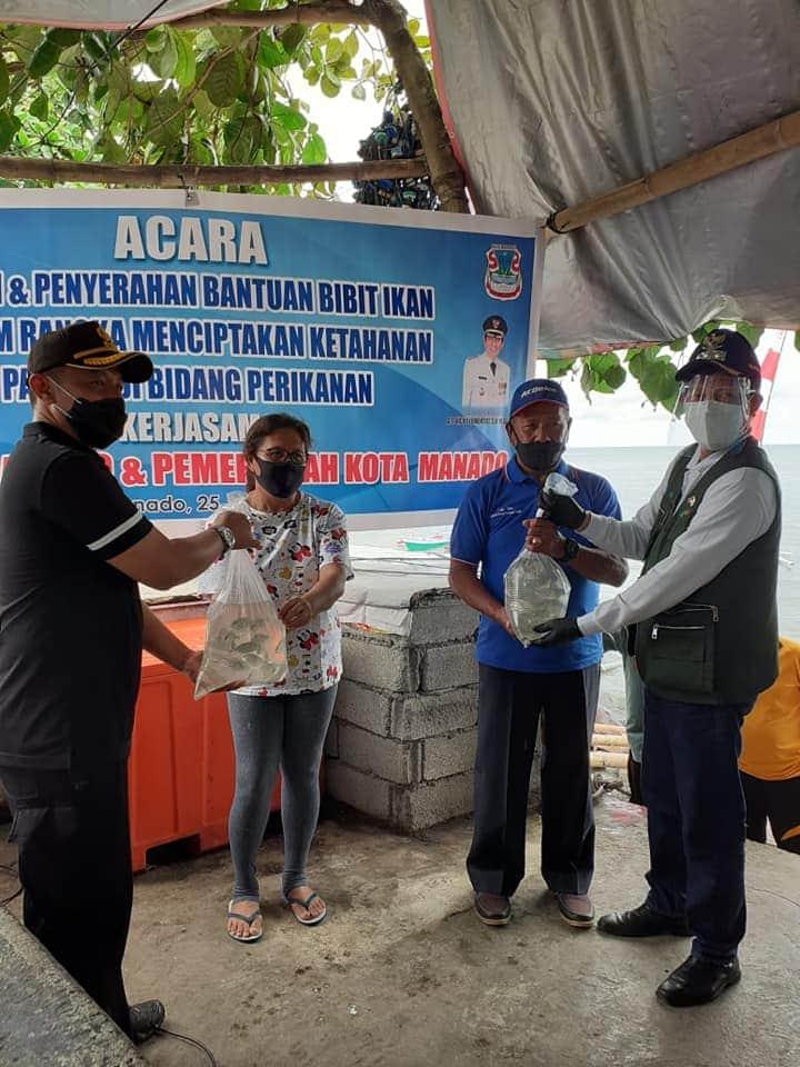 Ketahanan Pangan di Bidang Perikanan,  Wali kota GSVL Hadiri Panen dan Penyerahan Bantuan Bibit Ikan
