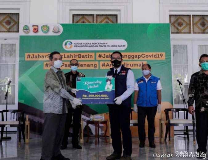 Mendag Agus suparmanto Serahkan Bantuan Rp5,4 M dan Alkes untuk 6 Provinsi Zona Merah Pandemi COVID-19