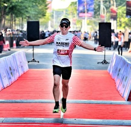 Mareno Running Club Tomohon Gelar Challenge Run 75 Km