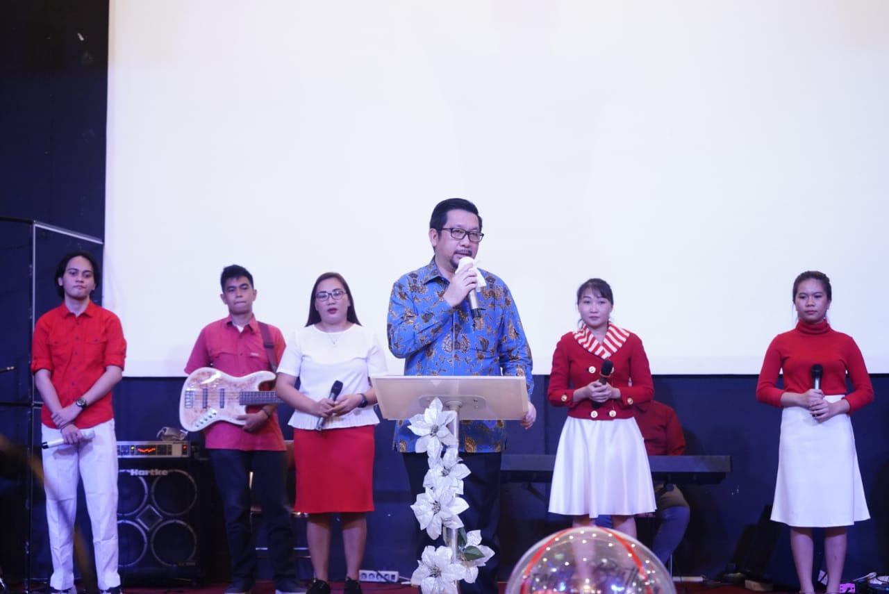 Wawali Mor Bastiaan Hadiri Ibadah Syukur HUT ke-47 Pdt Argemiro Marimpung