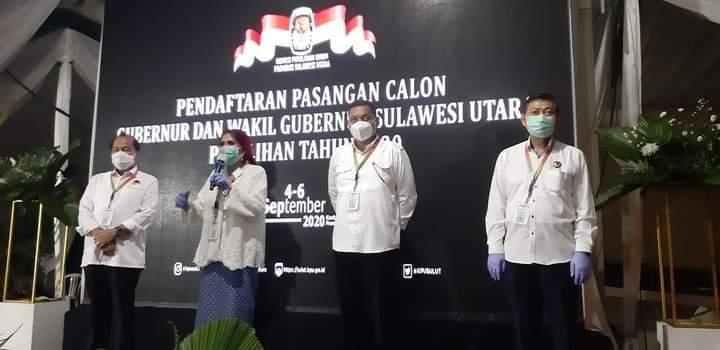 Dielu-Elukan Pendukungnya di Kantor KPU Sulut, VAP-HR Berjanji Tingkat Sektor Pertanian