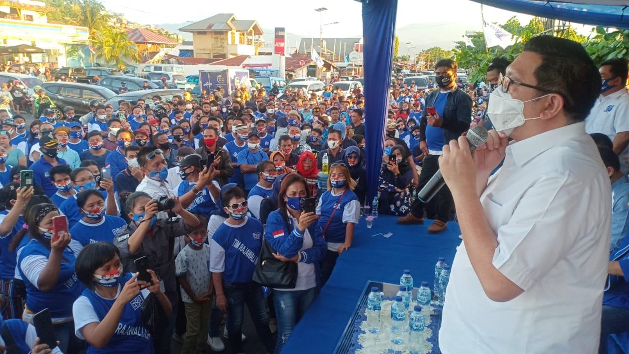 Tim Rajawali Mendeklarasikan Masuk Tim Pemenangan MOR-HJP. Mito : Optimis MOR-HJP Akan Meraup Suara Maksimal
