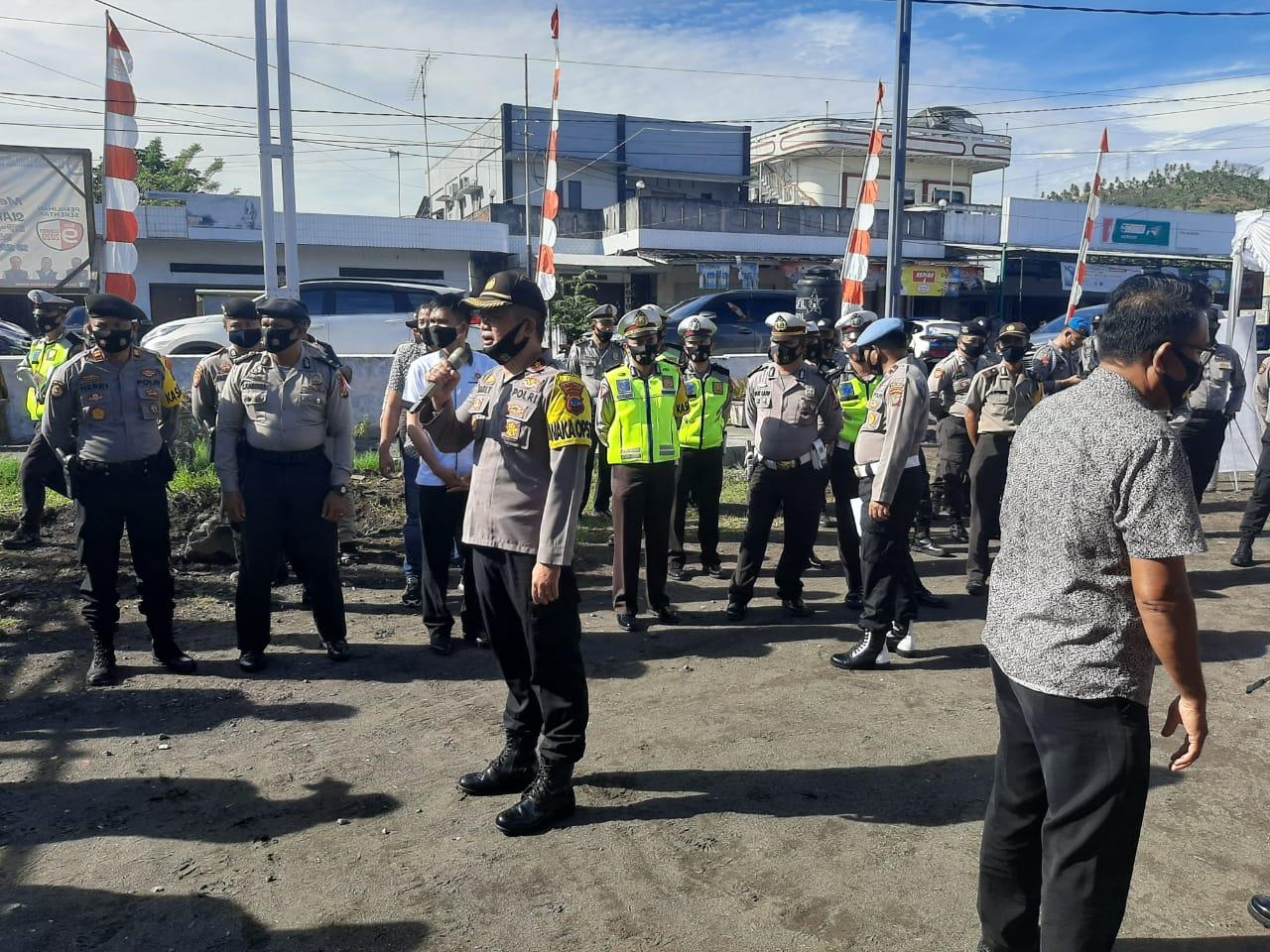 Ratusan personel Polres Minsel digeser ke KPU, Dalam Tahapan Pendaftaran Pilkada 2020