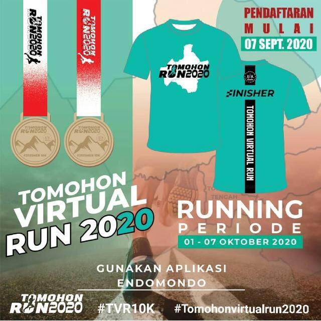 Mareno Running Club, Gelar Tomohon Virtual Run 2020
