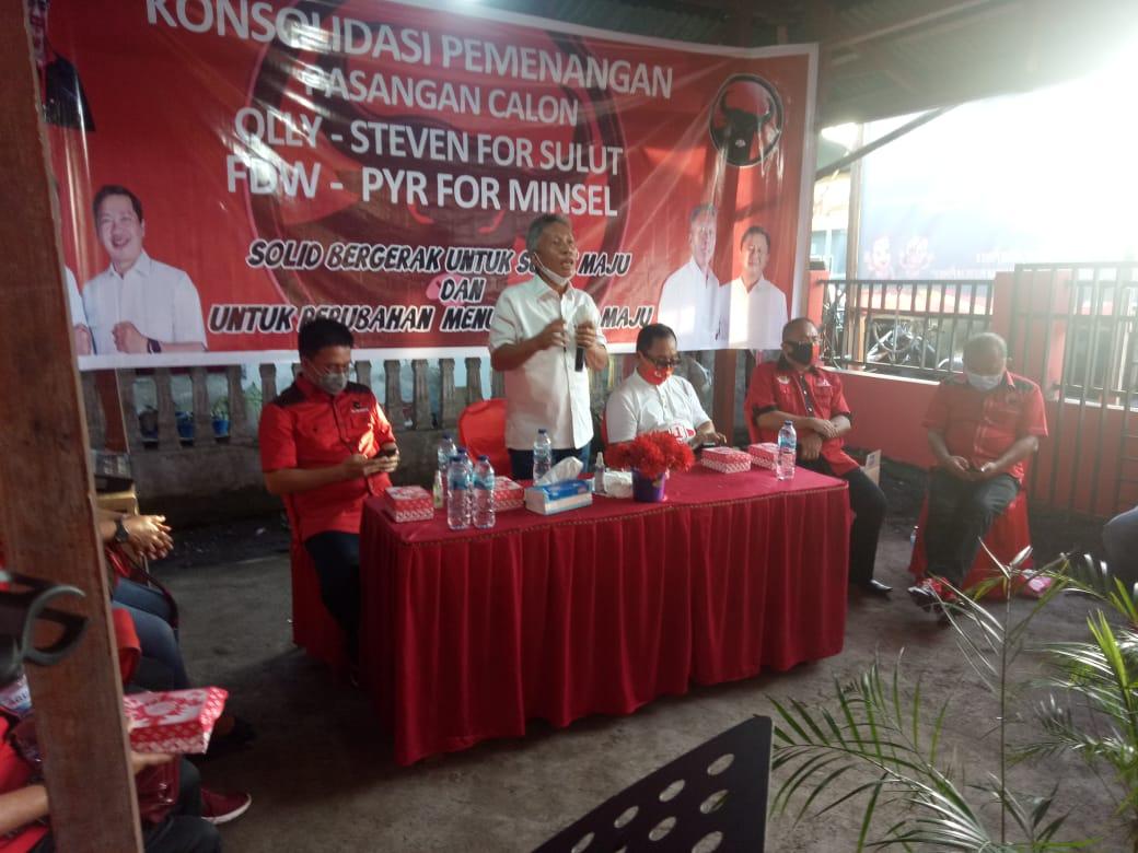 Gelar Konsolidasi Pemenangan Paslon ODSK dan FDW-PYR di Amurang Timur