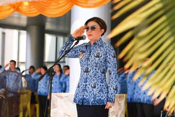 Bupati Tetty Paruntu, Jadi Irup Peringatan HUT Korpri ke-48 di Minsel