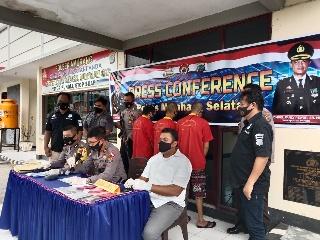 Gelar Press Conference Kasus Perdagangan Orang, Tiga Tersangka Diamankan Polsek Amurang