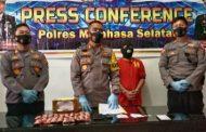 Ungkap Kasus Narkoba Jenis Sabu, Polres Minsel Gelar Press Conference