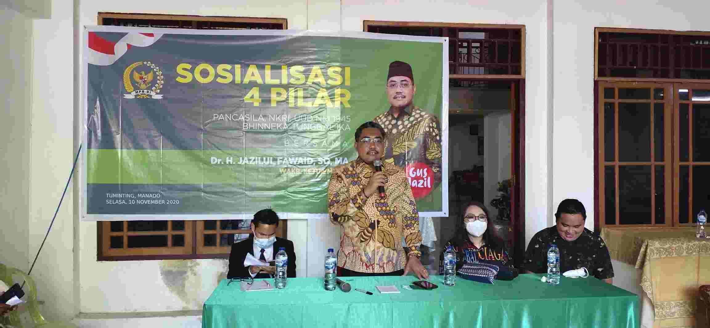 Berkunjung Ke Manado, Jazilul Fawahid Sosialisasikan 4 Pilar Kebangsaan